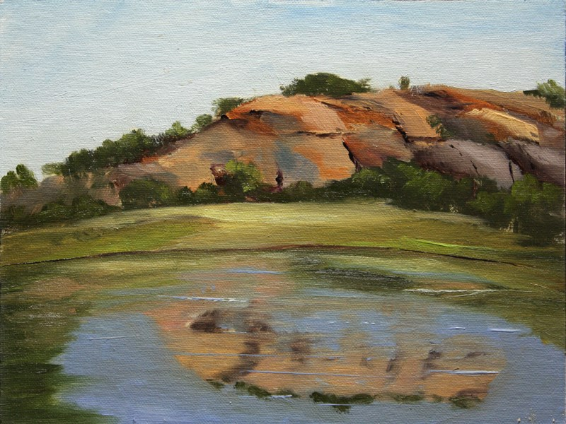 """Dutch Mountain Ranch Pond Reflections"" original fine art by Jane Frederick"
