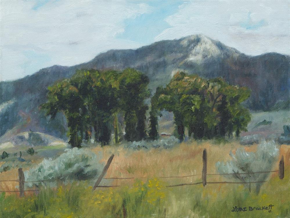 """Circle of Trees"" original fine art by Lori Brackett"