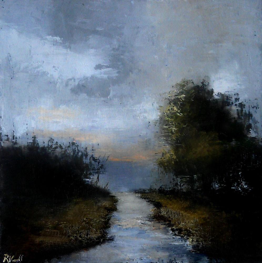 """Dark River"" original fine art by Bob Kimball"