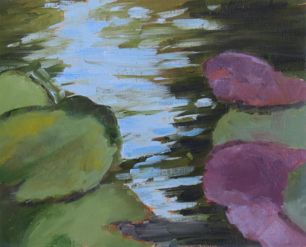 """Water Lilies"" original fine art by Pam Holnback"