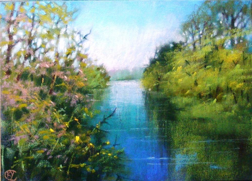 """""""View of waterside"""" original fine art by Celine K.  Yong"""
