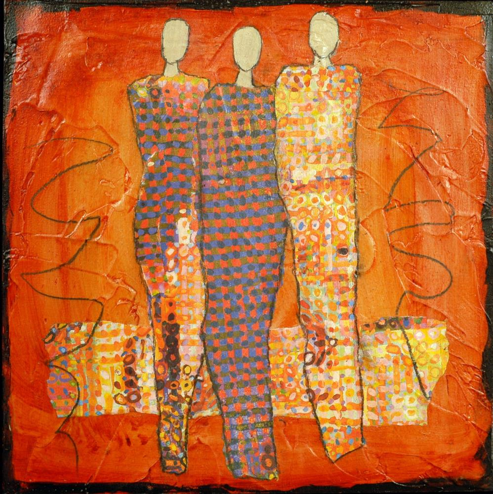 """Fashion Show"" original fine art by Sue Robertson"