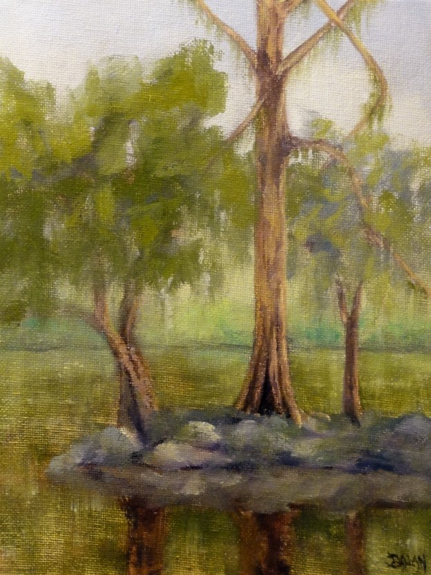 """New Orleans Cypress Island"" original fine art by Dalan Wells"