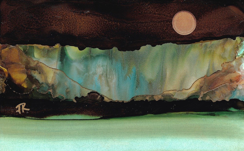 """Dreamscape No. 624"" original fine art by June Rollins"