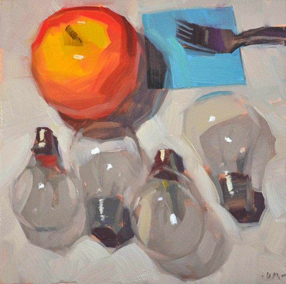 """""""Waiting for Ideas"""" original fine art by Carol Marine"""
