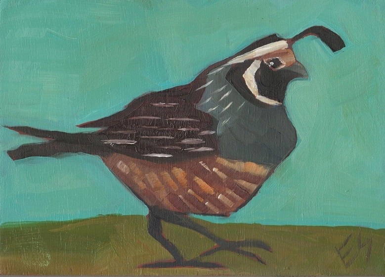 """Quail"" original fine art by Elizabeth See"