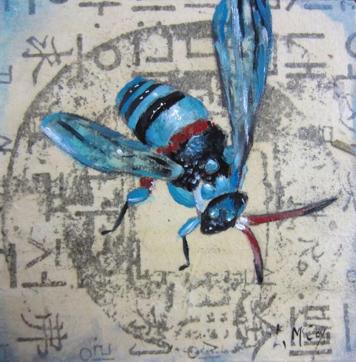 """Cuckoo Bee"" original fine art by Linda McCoy"
