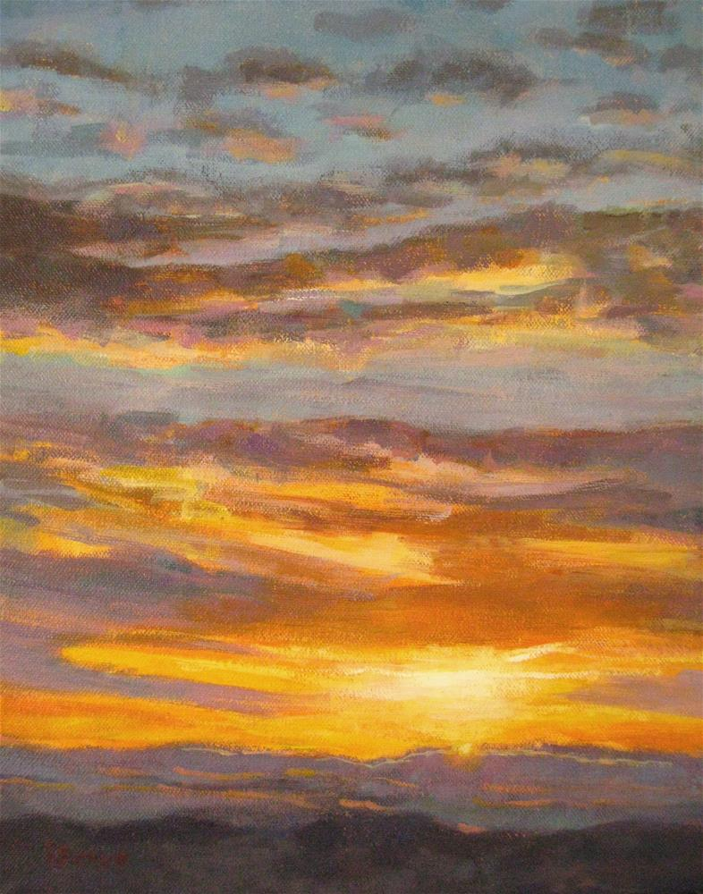 """Golden Light"" original fine art by Robie Benve"