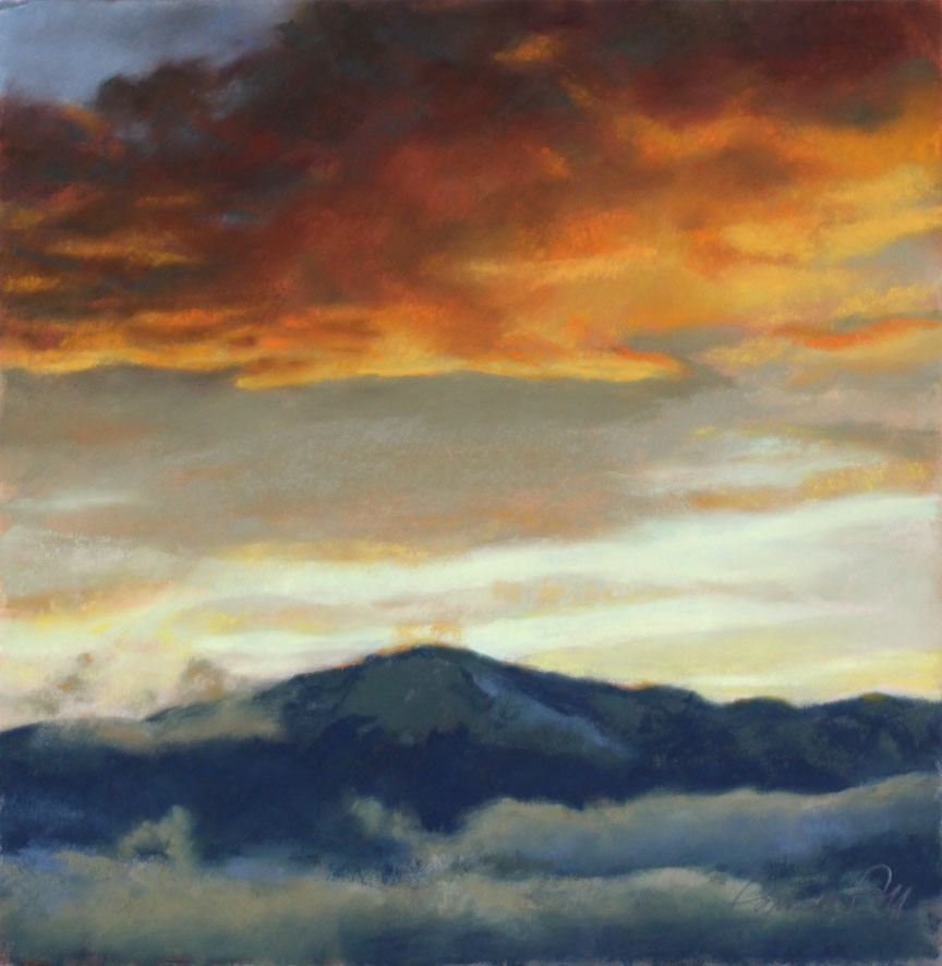 """Sunset Over Pikes Peak"" original fine art by Pamela Poll"