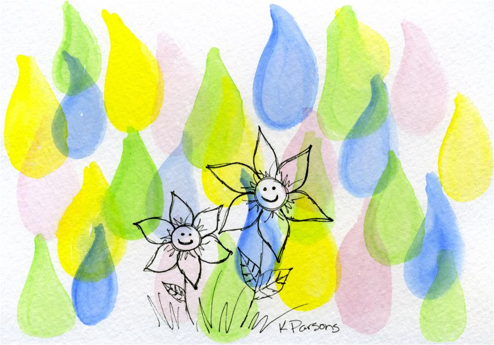 """Spring Showers Bring May Flowers"" original fine art by Kali Parsons"