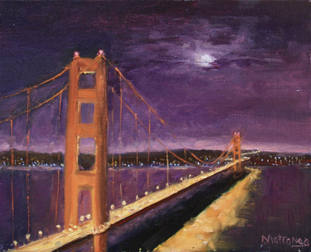 """Moon Over Golden Gate"" original fine art by Patricia Matranga"
