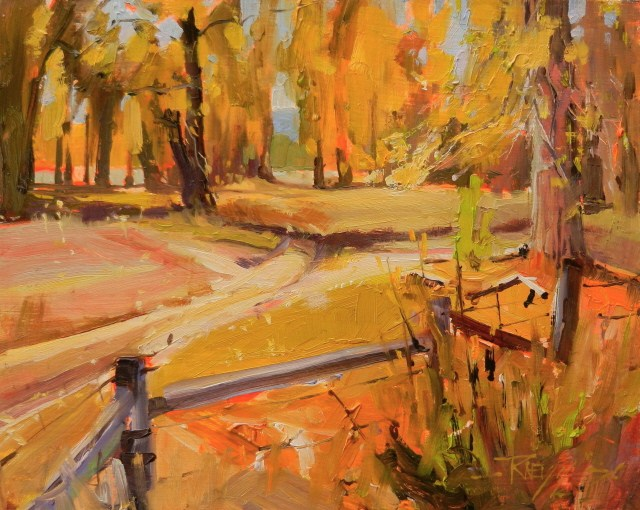 """Stevensville River Park plein air, oil landscape painting, by Robin Weiss"" original fine art by Robin Weiss"