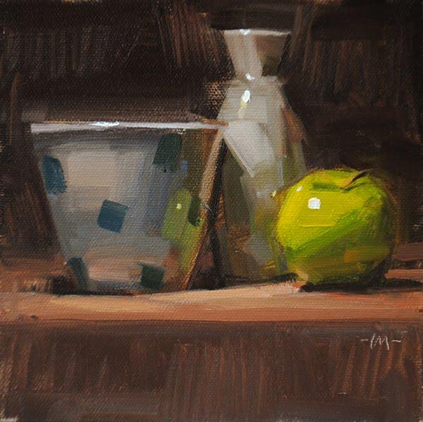 """Apple Sake"" original fine art by Carol Marine"