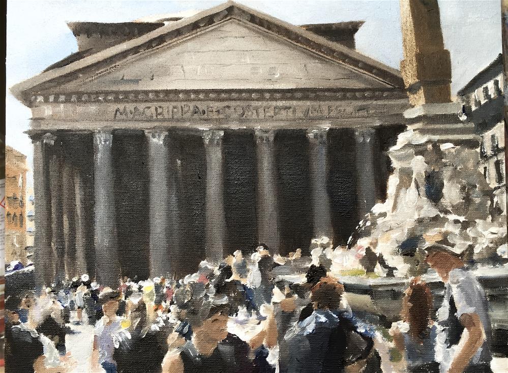 """Parthenon Study"" original fine art by James Coates"