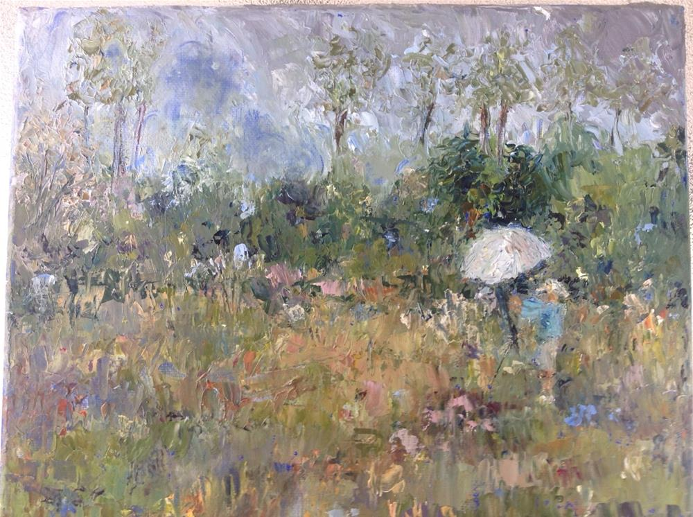 """Denny in the Field"" original fine art by Judy Usavage"