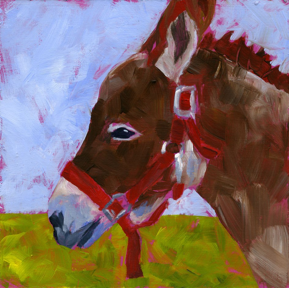 """Daphne, the  Donk-Kay"" original fine art by Eileen Hennemann"