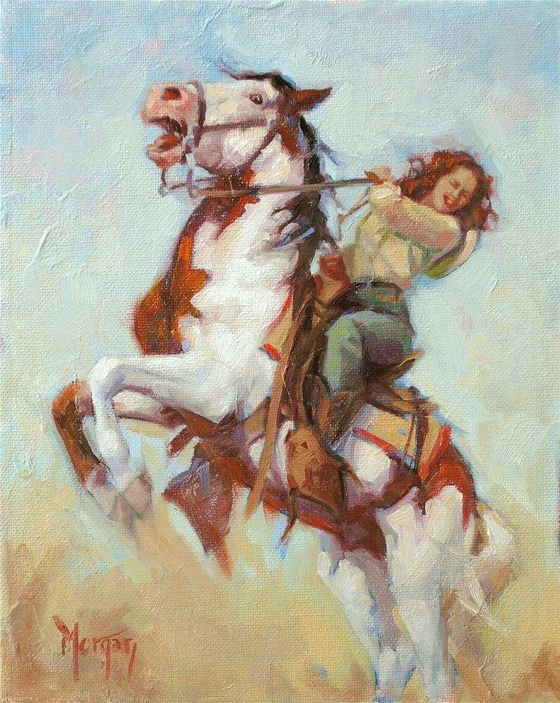 """Cowgirl Memories #2"" original fine art by Cecile W. Morgan"