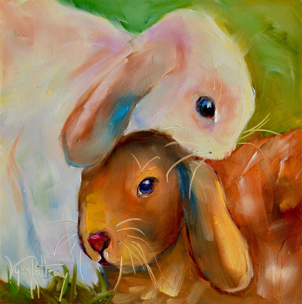 """Hugs"" original fine art by Lynn Rattray"