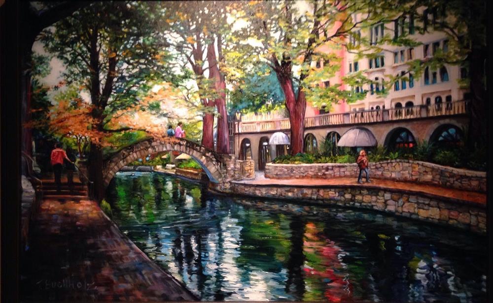 """San Antonio Riverwalk"" original fine art by Terri Buchholz"