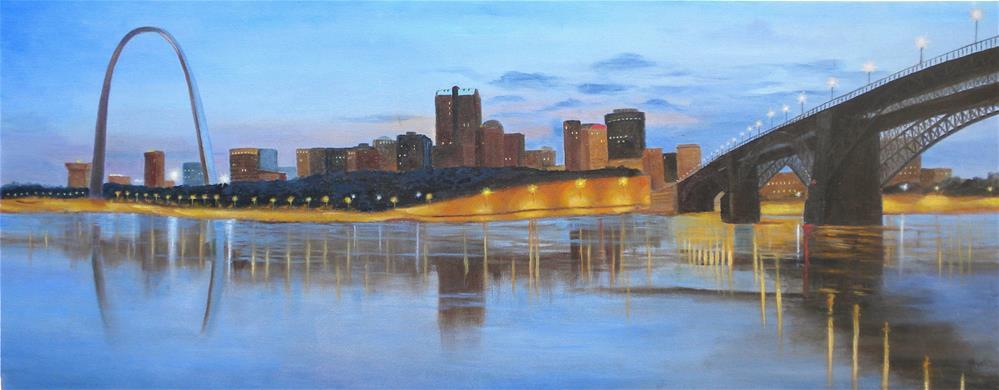 """""""St. Louis Riverfront"""" original fine art by Marti Idlet"""