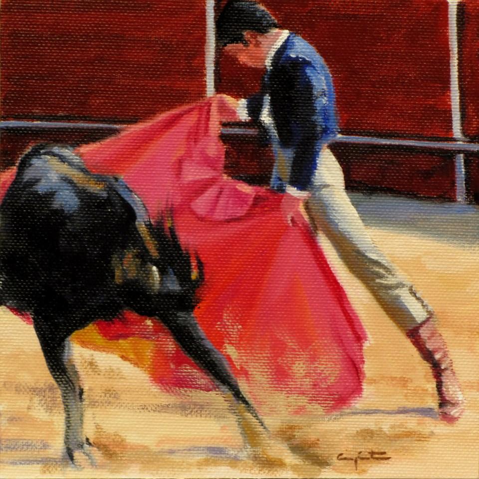 """""""Verónica en sol"""" original fine art by Eduardo Carpintero"""