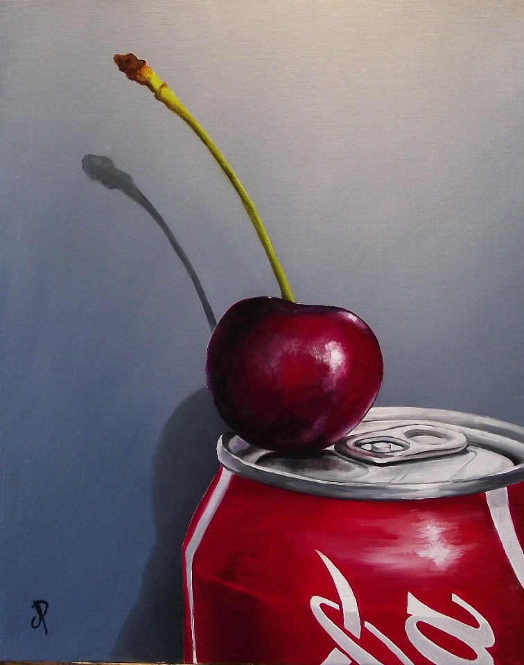 """Cherry Coke #2"" original fine art by Jane Palmer"