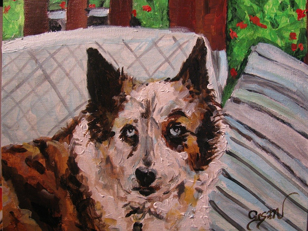 """Murphy"" original fine art by Susan Elizabeth Jones"