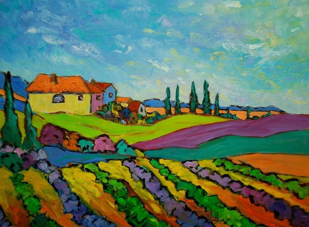 """""""Fields of Tuscany"""" original fine art by Liz Zornes"""