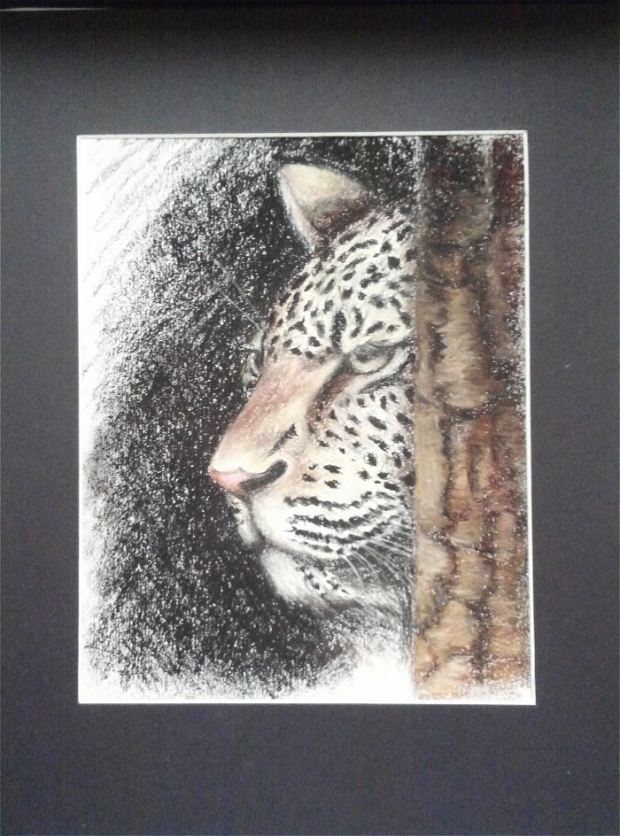 """Leopard"" original fine art by Camille Morgan"