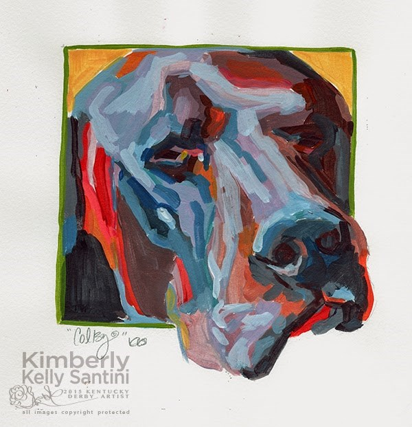 """Colby, Painted Sketch"" original fine art by Kimberly Santini"