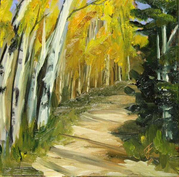 """Aspen Fall"" original fine art by Jane Frederick"