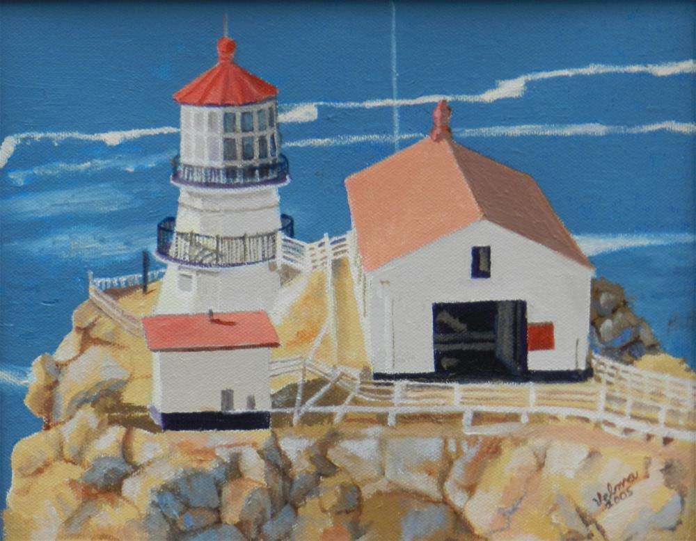 """Point Reyes Light"" original fine art by Velma Davies"