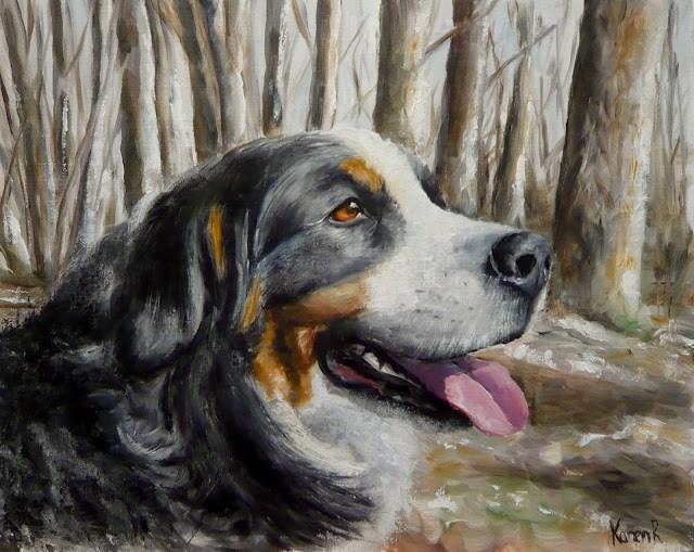 """Winter walk"" original fine art by Karen Robinson"