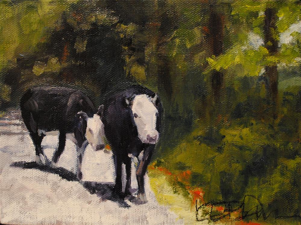 """Mr. Malcolm's Cows II"" original fine art by Kathy Broyles"
