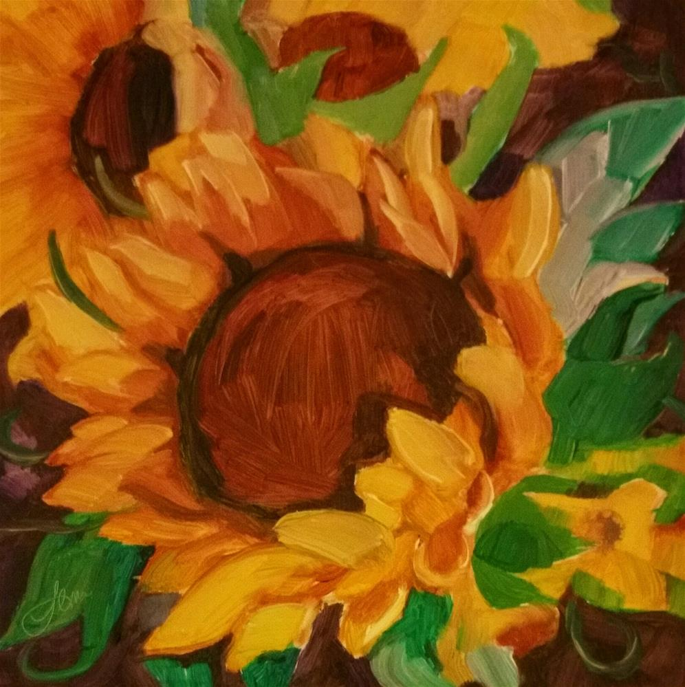 """Sunflower"" original fine art by Leni Tarleton"