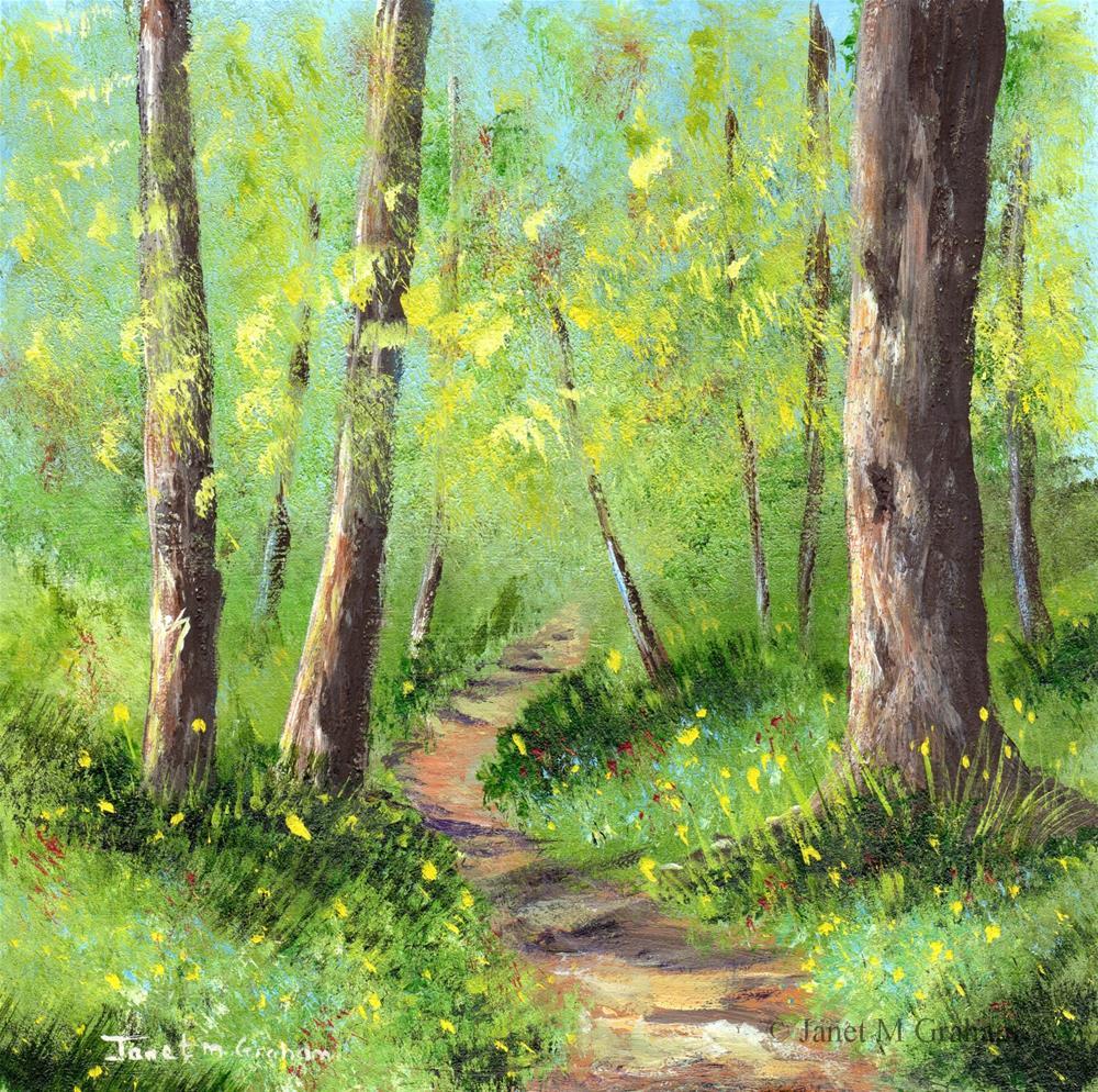 """Spring Woods"" original fine art by Janet Graham"