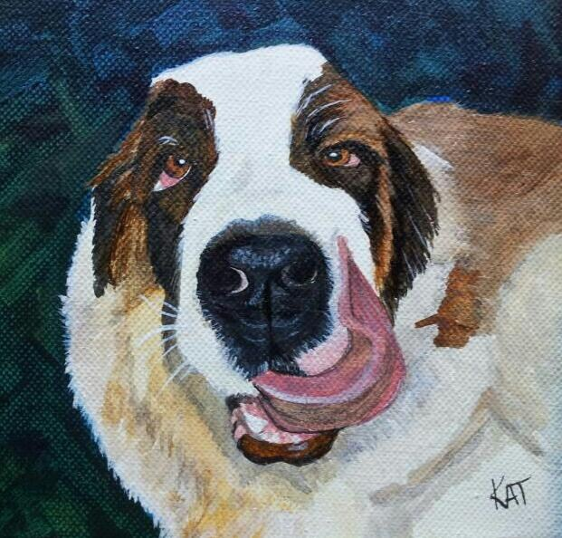 """Hoss"" original fine art by Kathleen Carrier"