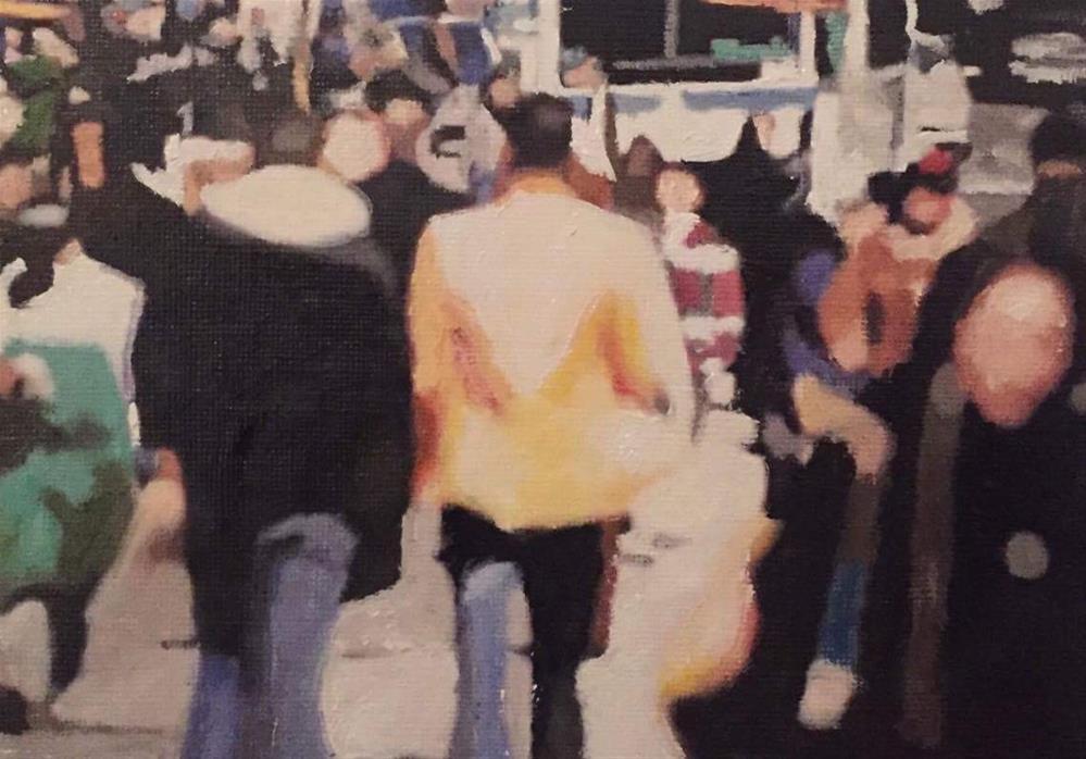 """Downtown N.Y.C"" original fine art by John Cameron"