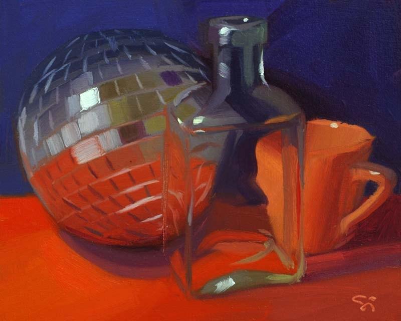 """""""After the party"""" original fine art by Istvan Schaller"""
