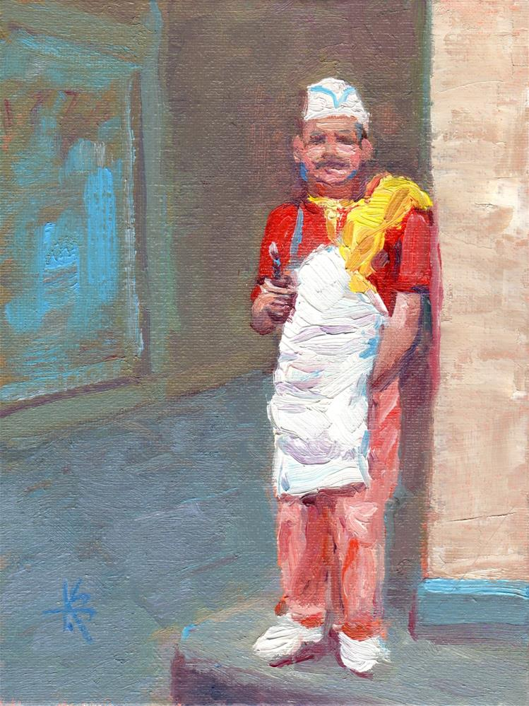 """Smoke Break"" original fine art by Kathy Bodamer"