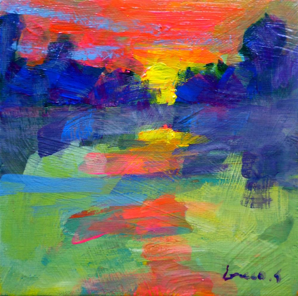 """Sunset 1"" original fine art by salvatore greco"