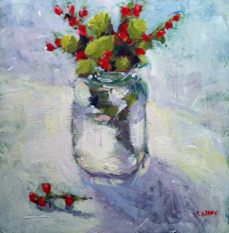 """simple centre piece"" original fine art by Shelley Garries"