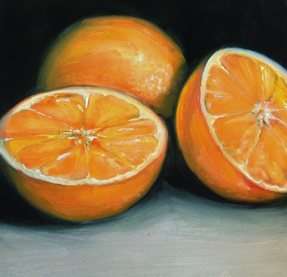 """Oranges II"" original fine art by Beth Moreau"