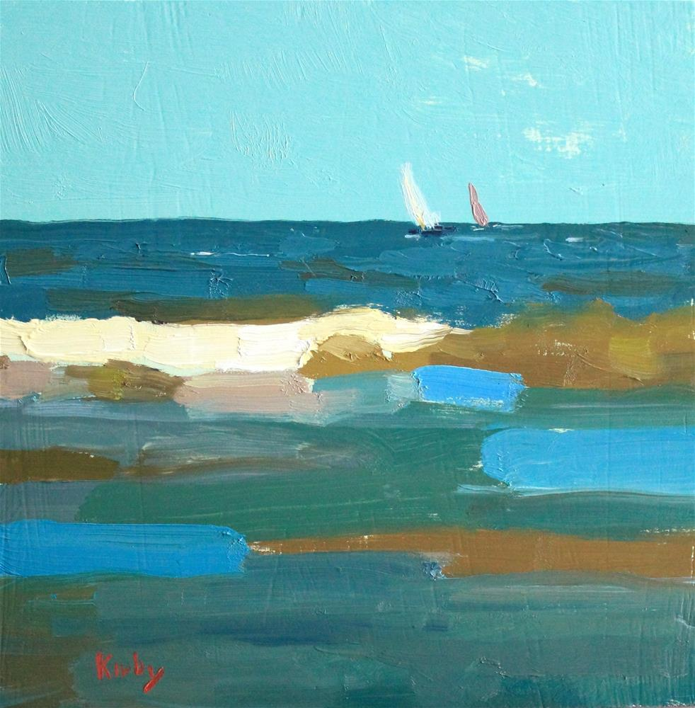 """""""Out to Sea"""" original fine art by Randall Cogburn"""