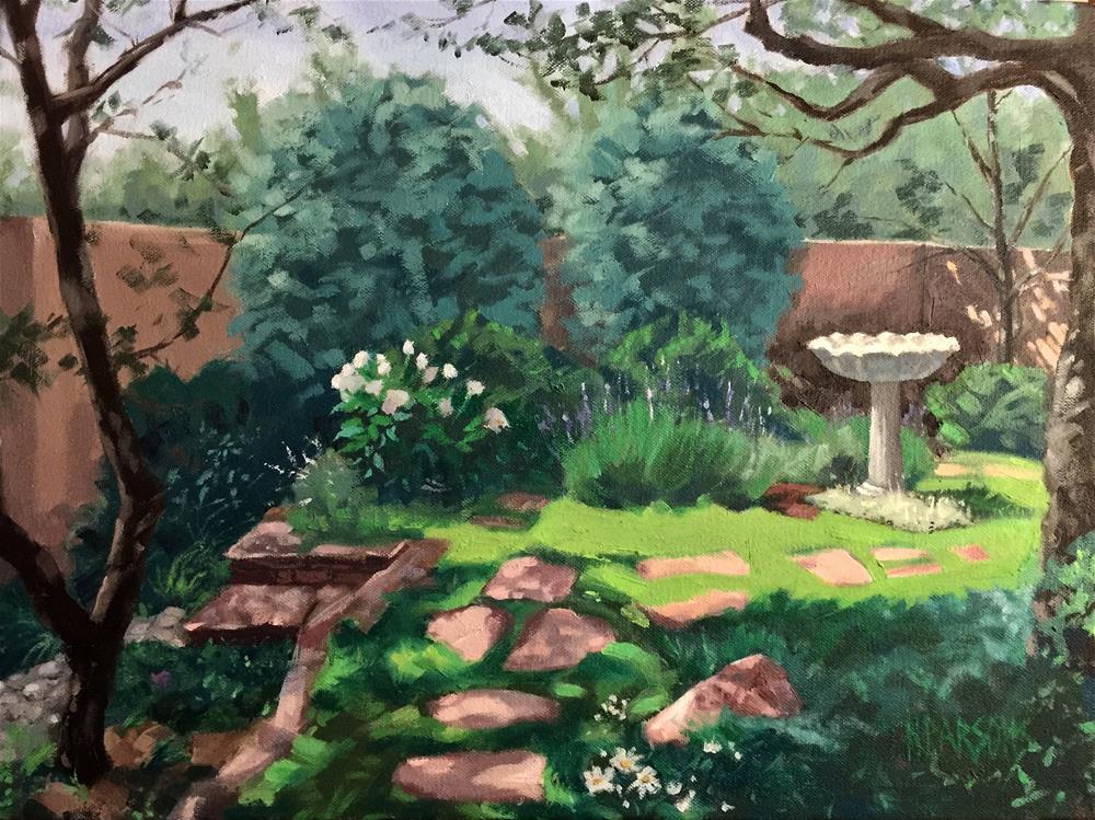 """""""A Portrait of La La's Garden"""" original fine art by Nancy Parsons"""