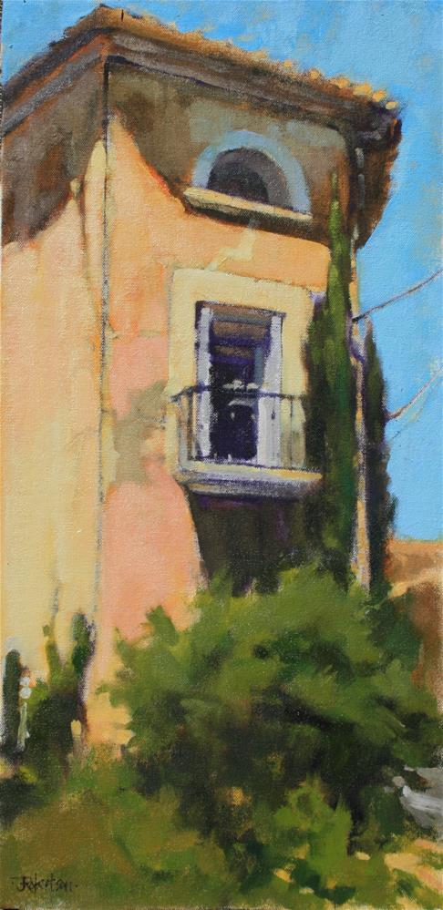 """Village House at Les Bassacs II"" original fine art by Jane Robertson"