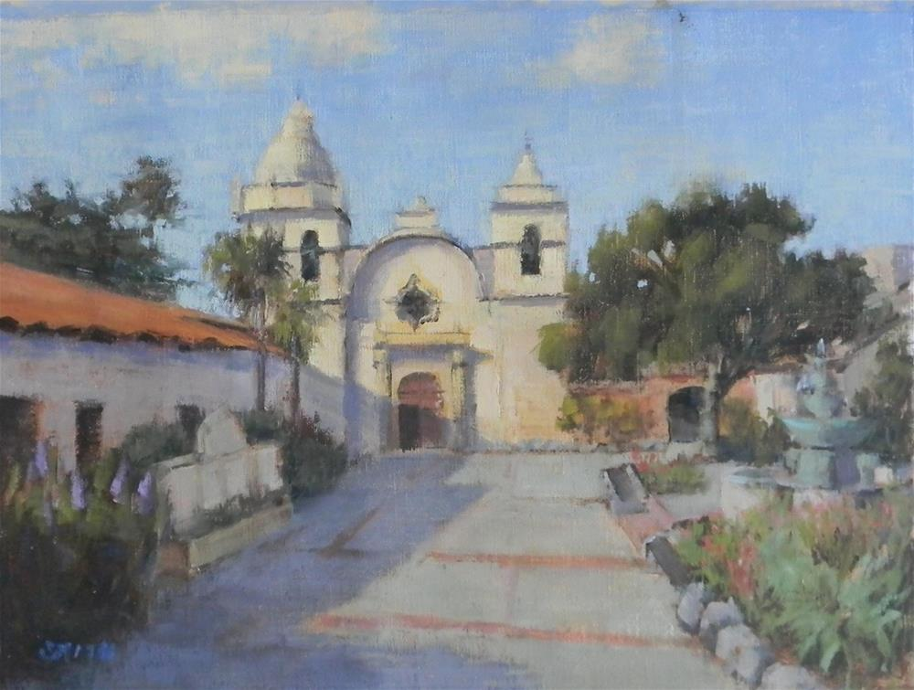 """San Carlos Borromeo de Carmelo Mission"" original fine art by Barbie Smith"