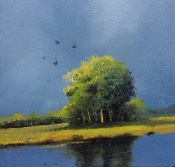 """""""BLACKBIRDS"""" original fine art by Gerald Schwartz"""