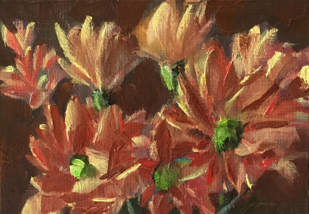 """Fall Daisies II"" original fine art by Gary Bruton"