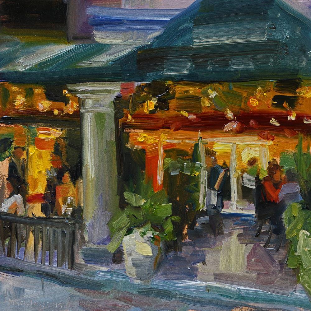 """""""Dinnerplace"""" original fine art by Miranda Dalessi"""
